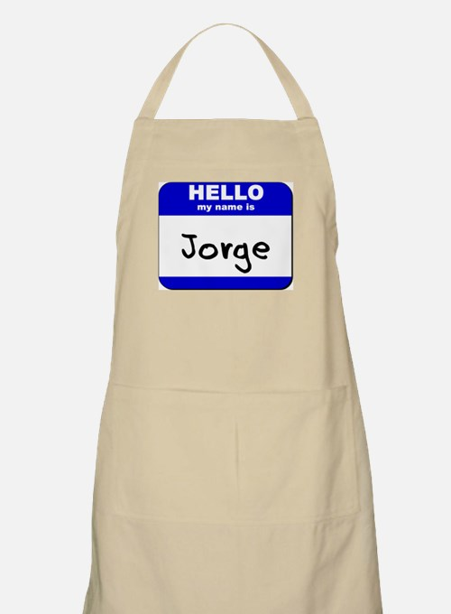 hello my name is jorge  BBQ Apron