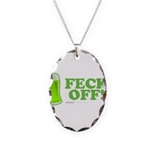 Feck Off! Necklace Oval Charm