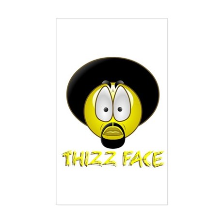Thizz Face Rectangle Sticker