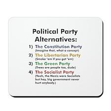 Political Party Mousepad