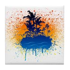 Paradise Graffiti Island Tile Coaster