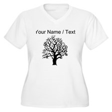 Custom Oak Tree Plus Size T-Shirt