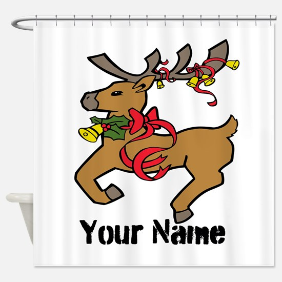 Christmas Reindeer - Personalized Shower Curtain