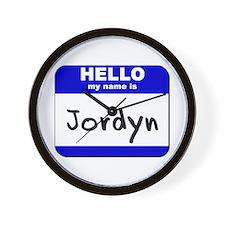 hello my name is jordyn  Wall Clock