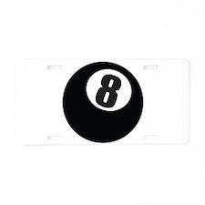 8 Ball Aluminum License Plate