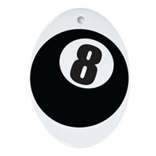 8 Ball Ornament (Oval)
