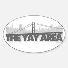 The Yay Area Oval Decal
