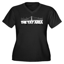 The Yay Area Women's Plus Size V-Neck Dark T-Shirt