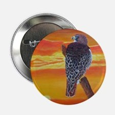 "Red Tailed Hawk 2.25"" Button"