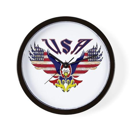 'Eagle w/ Flag Wings (USA)' Wall Clock