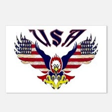 'Eagle w/ Flag Wings (USA)'  Postcards (Package of
