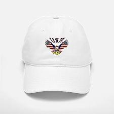 'Eagle w/ Flag Wings (USA)' Baseball Baseball Cap