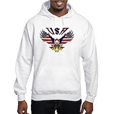 'Eagle w/ Flag Wings (USA)' Hoodie