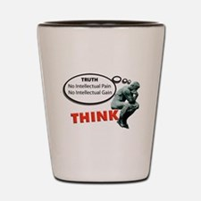 Think! No Pain No Gain Shot Glass