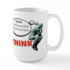 Think! No Pain No Gain Mugs