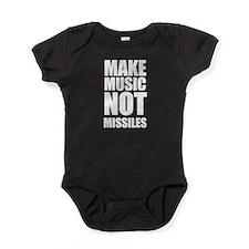 Make Music, Not Missles Baby Bodysuit