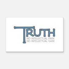 Truth Rectangle Car Magnet