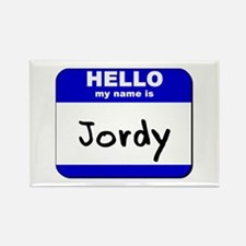 hello my name is jordy Rectangle Magnet