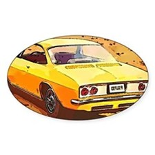 Yellow Corvair Watercolor Decal