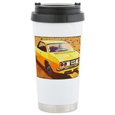 Yellow Corvair Watercol Thermos Mug