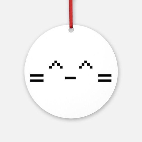 Happy Cat Ornament (Round)