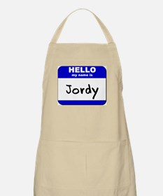 hello my name is jordy  BBQ Apron