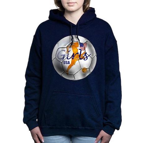USA Girls Soccer Hooded Sweatshirt