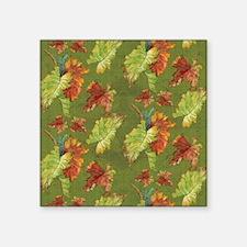 """Autumn Fall Grape Leaf Bati Square Sticker 3"""" x 3"""""""