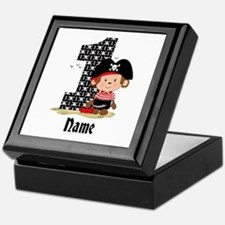 Personalized Monkey Pirate 1st Birthday Keepsake B