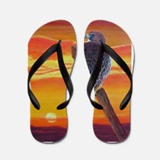 Red Tailed Hawk Flip Flops
