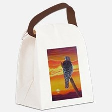 Red Tailed Hawk Canvas Lunch Bag
