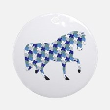 2014 Horse year Ornament (Round)