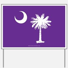 SC Palmetto Moon State Flag Purple Yard Sign