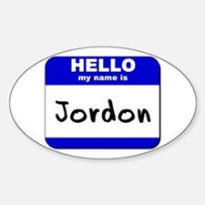 hello my name is jordon Oval Decal