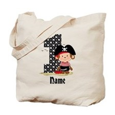 Personalized Monkey Pirate 1st Birthday Tote Bag