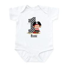 Personalized Monkey Pirate 1st Birthday Infant Bod