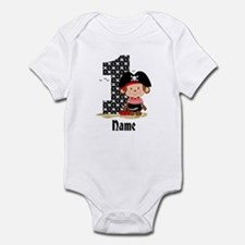 Personalized Monkey Pirate 1st Birthday Infant Bod