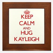 Keep Calm and Hug Kayleigh Framed Tile
