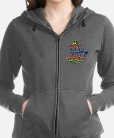Disc Golf Basket Art Zip Hoodie