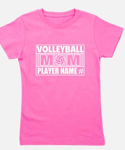Personalized Volleyball Mom Girl's Tee