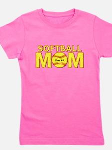 Personalized Softball Mom Girl's Tee