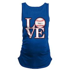 Perpsonalized Love Softball Maternity Tank Top
