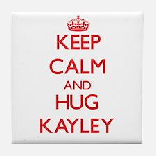 Keep Calm and Hug Kayley Tile Coaster