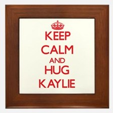 Keep Calm and Hug Kaylie Framed Tile