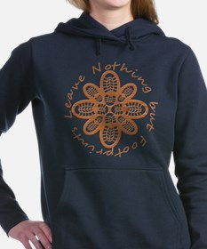 Wood Grain Boot Footprints Hooded Sweatshirt