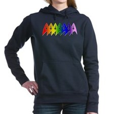 Star Trek Rainbow Pride Bevel Hooded Sweatshirt