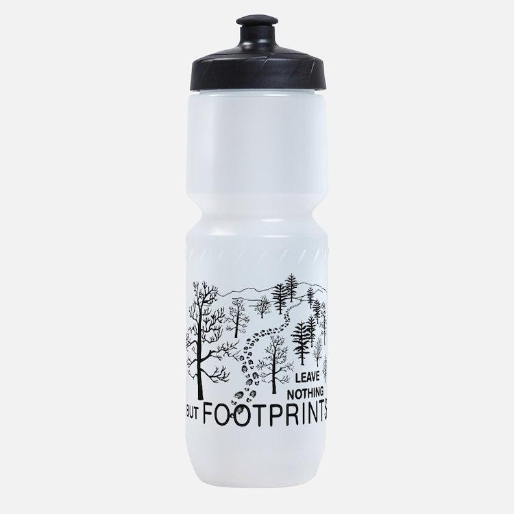 Leave Nothing but Footprints BLK Sports Bottle