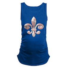 Fleur De lis Round Pink.png Maternity Tank Top