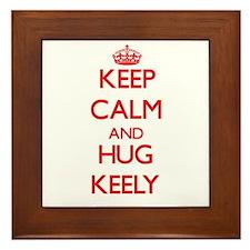 Keep Calm and Hug Keely Framed Tile