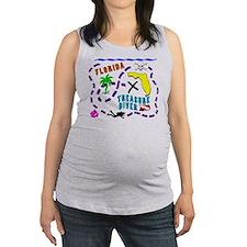 treasure dive.png Maternity Tank Top